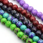 Glass Round 12mm Beads - Imitation Regalite (17 beads)